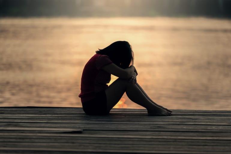 alone woman