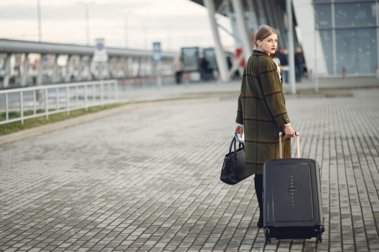 woman departure