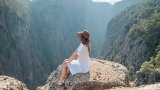 sitting on the mountain